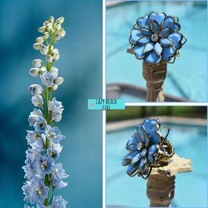 Lovely Blue Floral Ring